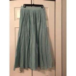 J Crew Teal Maxi Skirt Size 0 NWT